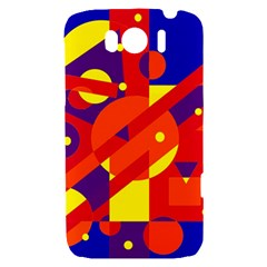 Blue and orange abstract design HTC Sensation XL Hardshell Case