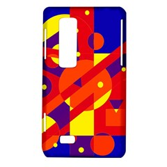 Blue and orange abstract design LG Optimus Thrill 4G P925