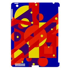 Blue and orange abstract design Apple iPad 3/4 Hardshell Case (Compatible with Smart Cover)