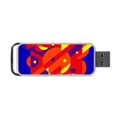 Blue and orange abstract design Portable USB Flash (One Side)