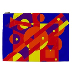 Blue and orange abstract design Cosmetic Bag (XXL)
