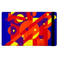 Blue and orange abstract design Apple iPad 2 Flip Case