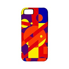 Blue and orange abstract design Apple iPhone 5 Classic Hardshell Case (PC+Silicone)