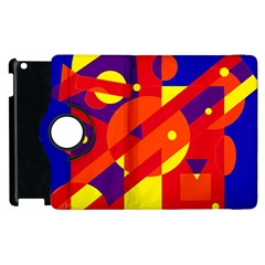 Blue and orange abstract design Apple iPad 2 Flip 360 Case