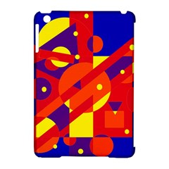 Blue and orange abstract design Apple iPad Mini Hardshell Case (Compatible with Smart Cover)