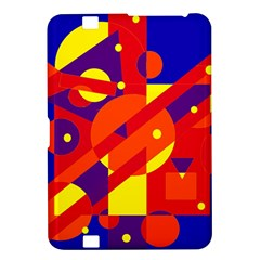 Blue and orange abstract design Kindle Fire HD 8.9