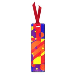 Blue and orange abstract design Small Book Marks