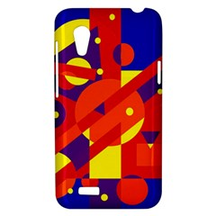 Blue and orange abstract design HTC Desire VT (T328T) Hardshell Case