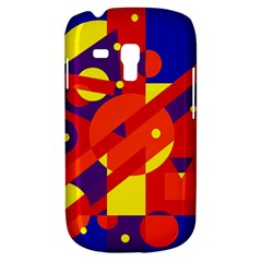 Blue and orange abstract design Samsung Galaxy S3 MINI I8190 Hardshell Case