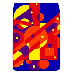 Blue and orange abstract design Flap Covers (S)