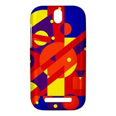 Blue and orange abstract design HTC One SV Hardshell Case
