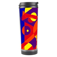 Blue and orange abstract design Travel Tumbler