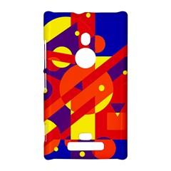 Blue and orange abstract design Nokia Lumia 925