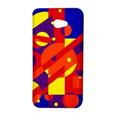 Blue and orange abstract design HTC Butterfly S/HTC 9060 Hardshell Case