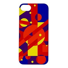 Blue and orange abstract design Apple iPhone 5S/ SE Hardshell Case