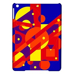 Blue and orange abstract design iPad Air Hardshell Cases
