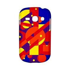 Blue and orange abstract design Samsung Galaxy S6810 Hardshell Case
