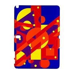Blue and orange abstract design Samsung Galaxy Note 10.1 (P600) Hardshell Case