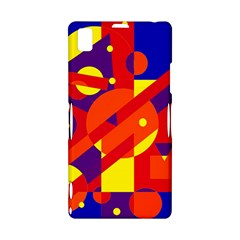 Blue and orange abstract design Sony Xperia Z1