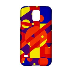 Blue and orange abstract design Samsung Galaxy S5 Hardshell Case