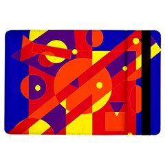 Blue and orange abstract design iPad Air Flip