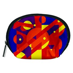 Blue and orange abstract design Accessory Pouches (Medium)