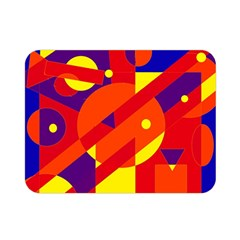 Blue and orange abstract design Double Sided Flano Blanket (Mini)