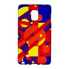 Blue and orange abstract design Galaxy Note Edge