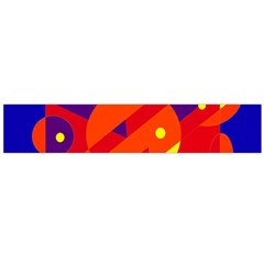 Blue and orange abstract design Flano Scarf (Large)