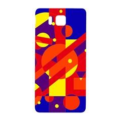 Blue and orange abstract design Samsung Galaxy Alpha Hardshell Back Case