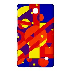 Blue and orange abstract design Samsung Galaxy Tab 4 (8 ) Hardshell Case