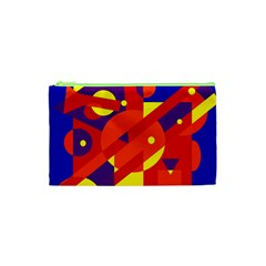 Blue and orange abstract design Cosmetic Bag (XS)