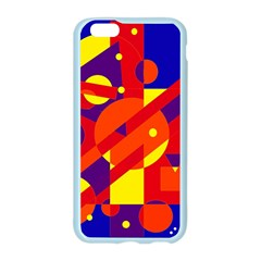 Blue and orange abstract design Apple Seamless iPhone 6/6S Case (Color)