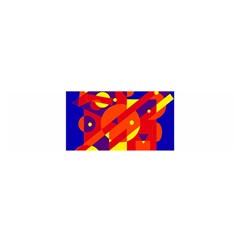 Blue and orange abstract design Satin Scarf (Oblong)