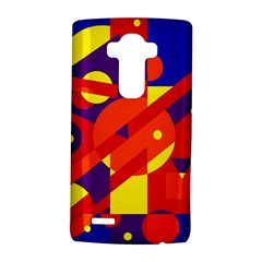 Blue and orange abstract design LG G4 Hardshell Case