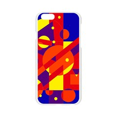 Blue and orange abstract design Apple Seamless iPhone 6/6S Case (Transparent)