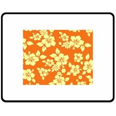 Sunny Hawaiian Double Sided Fleece Blanket (Medium)