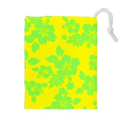 Bright Hawaiian Drawstring Pouches (Extra Large)