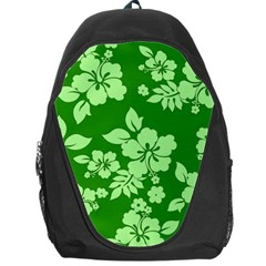 Green Hawaiian Backpack Bag