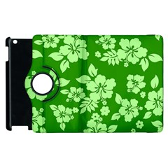Green Hawaiian Apple iPad 2 Flip 360 Case