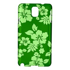 Green Hawaiian Samsung Galaxy Note 3 N9005 Hardshell Case
