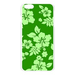 Green Hawaiian Apple Seamless iPhone 6 Plus/6S Plus Case (Transparent)