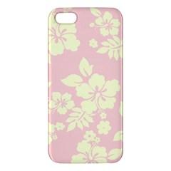 Pastel Hawaiian Apple iPhone 5 Premium Hardshell Case