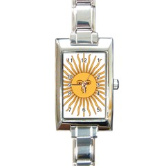 Argentina Sun of May  Rectangle Italian Charm Watch