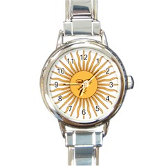 Argentina Sun of May  Round Italian Charm Watch