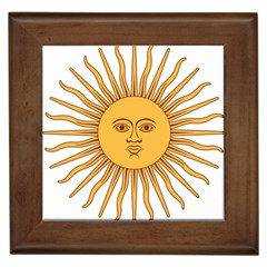 Argentina Sun of May  Framed Tiles