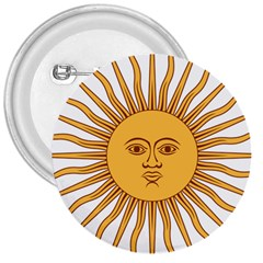 Argentina Sun of May  3  Buttons