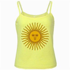 Argentina Sun of May  Yellow Spaghetti Tank