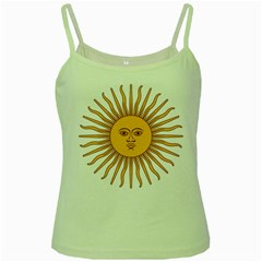 Argentina Sun of May  Green Spaghetti Tank