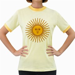 Argentina Sun of May  Women s Fitted Ringer T-Shirts